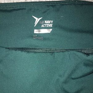 Old Navy Active Dark Green Crop Workout Pant